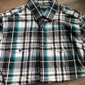 Express Plaid Dress Shirt